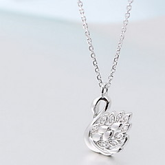Dame Halskædevedhæng Smykker Krydsformet Dyreformet Svane Sølv Simuleret diamant Mode luksus smykker Smykker Til Daglig Afslappet