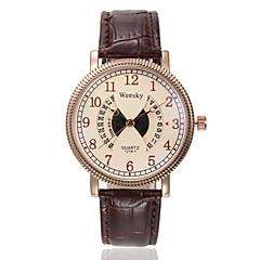 Men's Women's Unisex Sport Watch Fashion Watch Wrist watch Swiss Designer Quartz Genuine Leather Band Vintage Casual Multi-Colored