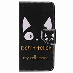 Για Πορτοφόλι Θήκη καρτών με βάση στήριξης tok Πλήρης κάλυψη tok Γάτα Σκληρή Συνθετικό δέρμα για Google Google Pixel Google Pixel XL