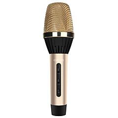 k8 Kablosuz Karaoke Mikrofonu 3.5mm Altın