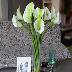 Set of 1 PCS 1 şube Polyester Kalla Zambağı Masaüstü Çiçeği Yapay Çiçekler 28