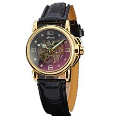 Herren Damen Unisex Sportuhr Kleideruhr Modeuhr Armbanduhr Mechanische Uhr Automatikaufzug Echtes Leder Band Bettelarmband Bequem