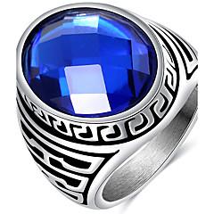 Ringe Hochzeit Party Alltag Normal Schmuck Acryl Titanstahl Herren Ring 1 Stück,7 8 9 10 Kameeblau Silber