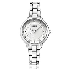 KEZZI Women's Fashion Watch Wrist watch Bracelet Watch Imitation Diamond Quartz Japanese Quartz Alloy Band Casual Elegant LuxurySilver