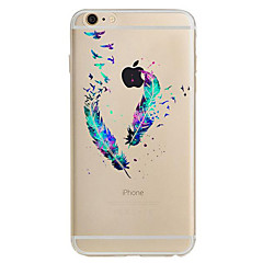 For Apple iPhone 7 7Plus 6S 6Plus Case Cover Feather Pattern HD TPU Phone Shell Material Phone Case