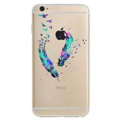 Käyttötarkoitus iPhone X iPhone 8 iPhone 7 iPhone 7 Plus iPhone 6 kotelot kuoret Ultraohut Kuvio Takakuori Etui Sulat Pehmeä TPU varten