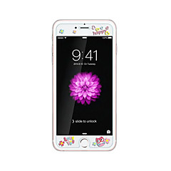 iPhone 6 / 6s plus 5.5inch karkaistu lasi läpinäkyvä edessä näytön suojakalvon kanssa emboss piirretty kuvio loistaa pimeässä pöllö