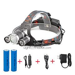 Torce frontali LED 4000 Lumens 4.0 Modo Cree XP-G R5 Cree XM-L T6 18650 CompattaCampeggio/Escursionismo/Speleologia Uso quotidiano
