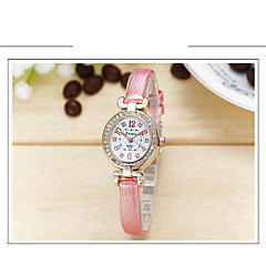 Women's Fashion Watch Quartz Leather Band Casual Black White Blue Red Grey Pink Purple