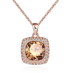 Women's Pendant Necklaces Crystal AAA Cubic Zirconia Square Geometric Irregular Crystal Cubic Zirconia Silver Plated Glass Tin Alloy Alloy