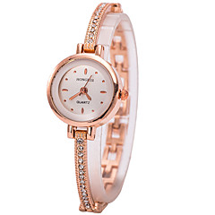 Women's Bracelet Watch Wrist watch Simulated Diamond Watch Quartz Imitation Diamond Rhinestone Alloy Band Charm Gold Strap Watch