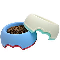 Gato Perro Cuencos y Botellas de Agua Mascotas Cuencos y Alimentación Portátil Rojo Blanco Verde Azul Plástico