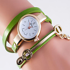 Fashion Watch Quartz Leather Band Casual White Blue Green