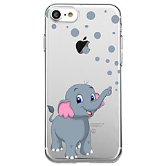 Mert Ultra-vékeny Átlátszó Minta Case Hátlap Case Elefánt Puha Gumi mert AppleiPhone 7 Plus iPhone 7 iPhone 6s Plus/6 Plus iPhone 6s/6