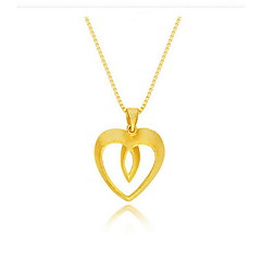 Pendant Necklaces Jewelry Gold 18K gold Heart Snake Dangling Style Fashion Gold Jewelry Daily Casual Sports 1pc