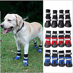 Γάτα Σκύλος Παπούτσια & Μπότες Αδιάβροχη Συνδυασμός Χρωμάτων Μαύρο Κόκκινο Μπλε