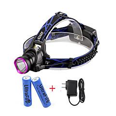 U'King® ZQ-X804#1-US CREE XM-L T6 2000LM 3Modes Zoomable Headlamp Kit Purple Head