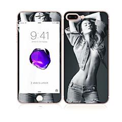 iPhone 7 plus 5,5 karkaistua lasia pehmeällä reunalla koko näytön kattavuuden edessä ja takana näytön suojus sexy lady malli