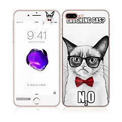Apple iPhone 7 4.7 edzett üveg puha él teljes képernyős lefedettség első és hátsó képernyő védő szép macska minta