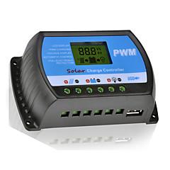 y-solar 40a lcd pwm napelemes töltésvezérlő akkumulátor szabályozó 12 / 24V kettős usb rtd-40a