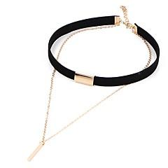 Choker kettingen Sieraden Geometrische vorm Kant Legering Vintage Euramerican Kostuum juwelen Sieraden Voor Feest Verjaardag Dagelijks