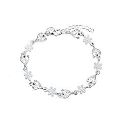Γυναικεία Βραχιόλια με Φυλαχτά Love Μοντέρνα Επάργυρο Heart Shape Νιφάδα χιονιού Ασημί Κοσμήματα Για 1pc