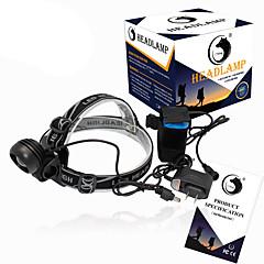 Otsalamput LED 2000 Lumenia 3 Tila Cree XM-L T6 18650 Kompakti kokoTelttailu/Retkely/Luolailu Päivittäiskäyttöön Pyöräily Metsästys