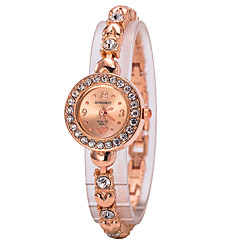 Women's Fashion Watch Wrist watch Bracelet Watch Quartz Imitation Diamond Rhinestone Alloy Band Charm Rose Gold Strap Watch