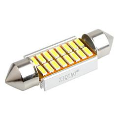 ziqiao 36 milímetros 16 LED SMD 4014 carro canbus festão lâmpadas interiores (12V / 2pcs)