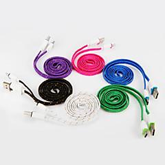 USB 2.0 πληκτρολογήστε C Επίπεδο Πλεκτό Καλώδιο Για Samsung Huawei Sony Nokia HTC Motorola LG Lenovo Xiaomi 100 cm Νάιλον