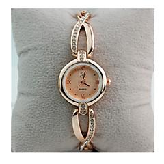 Γυναικεία Βραχιόλι Ρολόι Προσομοίωσης Ρόμβος Ρολόι Χαλαζίας / Με Επίστρωση Ροζ Χρυσού Ανοξείδωτο Ατσάλι Μπάντα Πεπαλαιωμένο Λευκή Χρυσό