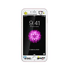 Apple iPhone 6 / 6s 4.7inch edzett üveg átlátszó elülső képernyő védő a domborít rajzfilm minta világít a sötétben panda