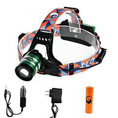 Lanternas de Cabeça LED 2000 Lumens 3 Modo Cree XM-L T6 18650.0 Foco AjustávelCampismo / Escursão / Espeleologismo Uso Diário Ciclismo