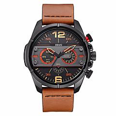 גברים ילדים שעוני ספורט שעונים צבאיים שעוני שמלה שעוני אופנה שעון יד קוורץ יפני פאנק עור אמיתי להקה וינטאג' מזל צמיד מגניב יום יומישחור