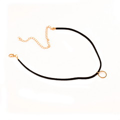 Women's Choker Necklaces Nylon Alloy Fashion Personalized Euramerican Gold Silver Jewelry Daily Casual 1pc
