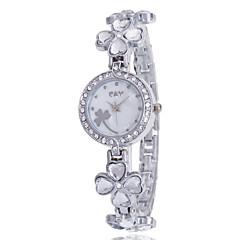 Dame Sportsur Kjoleur Modeur Armbåndsur Simuleret Diamant Ur Quartz Imiteret Diamant Legering Bånd Charm Armbånd Afslappet Mangefarvet
