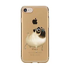 For Transparent Pattern Case Back Cover Case Cartoon Lovely Dog Soft TPU for IPhone 7 7Plus iPhone 6s 6 Plus iPhone 6s 6 iPhone 5s 5 5E 5C