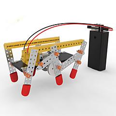 ألعاب للأولاد اكتشاف ألعاب مجموعة اصنع بنفسك ألعاب تربوية إنسان آلي معمارية ABS الأبيض