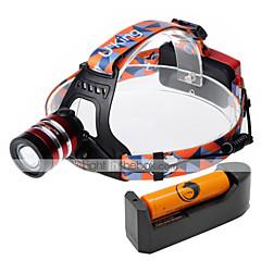 Pandelamper LED 2000 Lumen 3 Tilstand Cree XM-L T6 18650 Justerbart FokusCamping/Vandring/Grotte Udforskning Dagligdags Brug Cykling Jagt