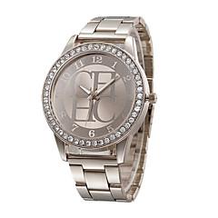 Женские Модные часы Имитационная Четырехугольник Часы Имитация Алмазный Кварцевый Нержавеющая сталь Группа С подвесками Повседневная