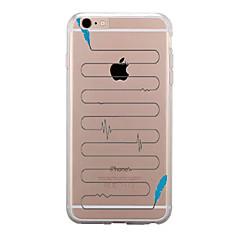 Για Διαφανής Με σχέδια tok Πίσω Κάλυμμα tok Φτερό Μαλακή TPU για AppleiPhone 7 Plus iPhone 7 iPhone 6s Plus iPhone 6 Plus iPhone 6s