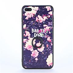 Mert Tartó gyűrű Dombornyomott Minta Case Hátlap Case Virág Kemény PC mert AppleiPhone 7 Plus iPhone 7 iPhone 6s Plus iPhone 6 Plus