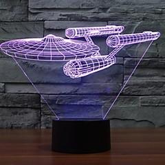 7 színváltozás 3d Trek csillagos csatahajó fények színes led dekorációs fények vizuális atmoszféra érintés kapcsoló világít