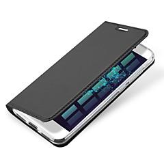 Voor Kaarthouder Flip Magnetisch hoesje Volledige behuizing hoesje Effen kleur Hard PU-leer voor HuaweiHuawei P9 Huawei P9 Lite Huawei P9