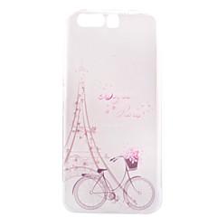 Mert Átlátszó Minta Case Hátlap Case Eiffel torony Puha TPU mert Huawei Huawei P10