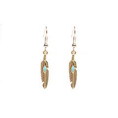 Kolczyki zwisają Biżuteria Wiszący Postarzane euroamerykańskiej Stop Skrzydła / Feather Gold Silvery Biżuteria Na Codzienny Casual 1 para