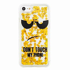 Για Ρέον υγρό Με σχέδια tok Πίσω Κάλυμμα tok Λάμψη γκλίτερ Λέξη / Φράση Μαλακή TPU για AppleiPhone 7 Plus iPhone 7 iPhone 6s Plus iPhone