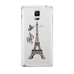 Varten Läpinäkyvä Kuvio Etui Takakuori Etui Eiffelin torni Pehmeä TPU varten Samsung Note 5 Note 4 Note 3 Note 2