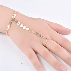 Γυναικεία Βραχιόλια με Αλυσίδα & Κούμπωμα Κοσμήματα Μοντέρνα Κράμα Line Shape Χρυσό Ασημί Κοσμήματα Για Πάρτι Ειδική Περίσταση 1pc