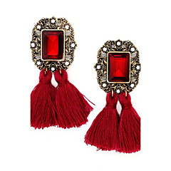 Drop Earrings Unique Design Tassel Crystal Alloy Jewelry Jewelry For Party Daily Casual 1 pair